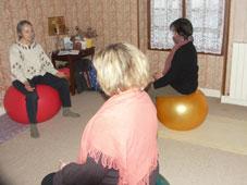 photo d'une séance de yoga prenatal à Varennes–Vauzelles